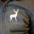 deer logo on toddler hoodie