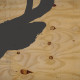 deer's ear silhoutte on plywood