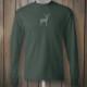Longsleeve green tshirt with grey deer