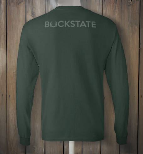 Green Buckstate longsleeve tshirt back