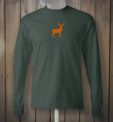 Green Tshirt with Orange Deer Emblem