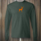 Green Tshirt with Orange Deer Emblem