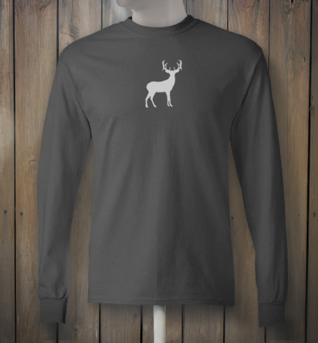 Longsleeve tshirt with white deer design