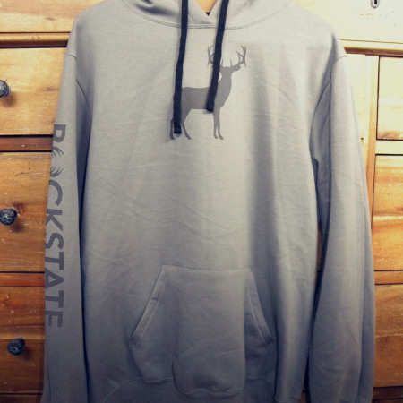 Full size hoodie with grey deer logo