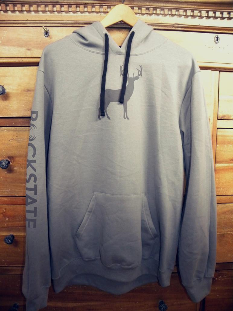 Full size hoodie with grey deer logo