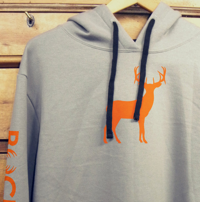 Orange Deer Hoody Adult
