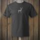 Dark grey t-shirt with grey deer logo