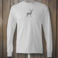 Longsleeve white tshirt with grey deer design