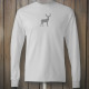 Longsleeve white tshirt with grey deer design