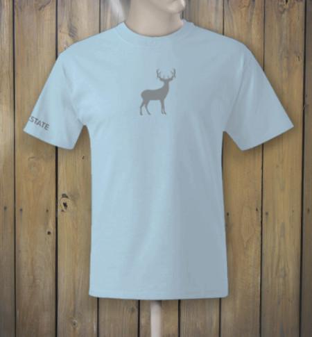 Light blue tshirt with deer logo