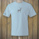 Light blue tshirt with deer logo