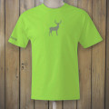 Lime Green Tshirt with Deer logo