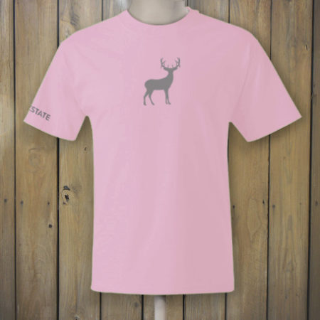 Pink t-shirt with deer logo