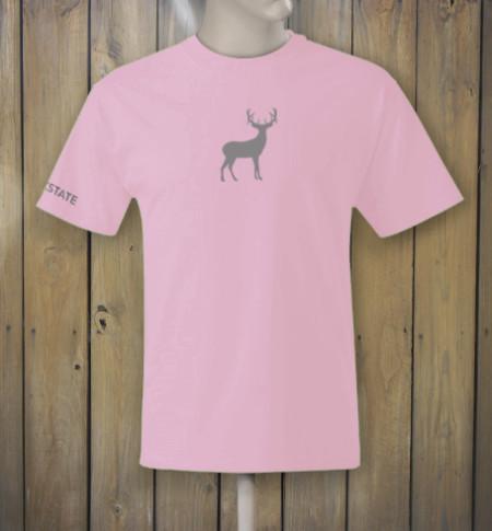 Pink t-shirt with deer logo