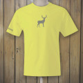 Yellow t-shirt with deer logo