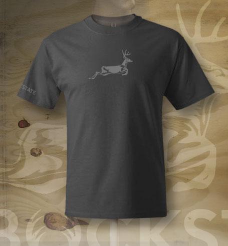 Jumping deer logo close up