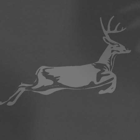 Grey jumpng deer logo