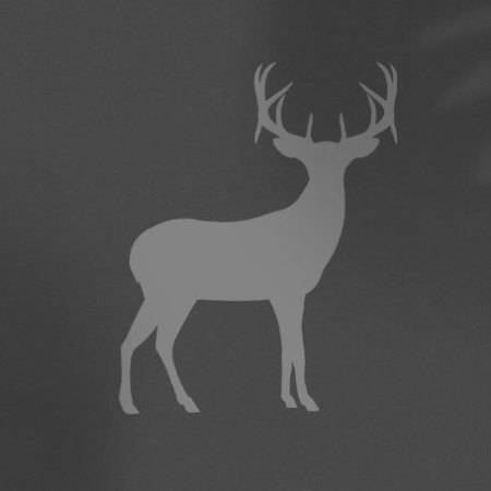 grey deer outline on charcoal shirt