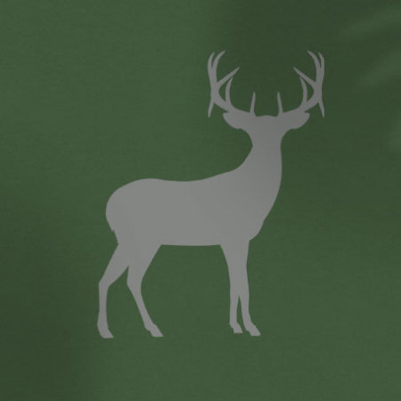 Grey deer on green