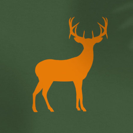 Orange deer on green