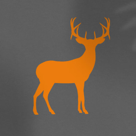 Orange deer on light grey