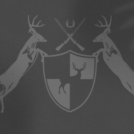 Deer coat of arms on grey