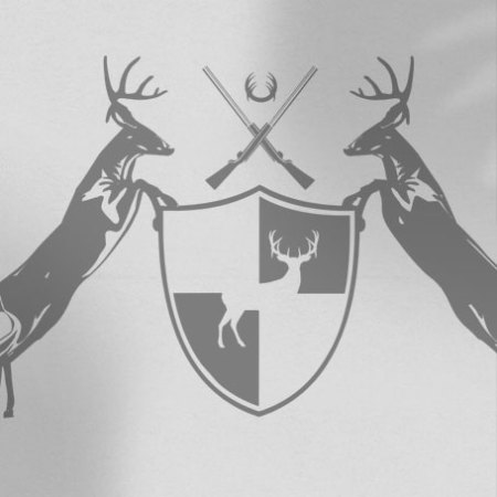 Deer coat of arms on white