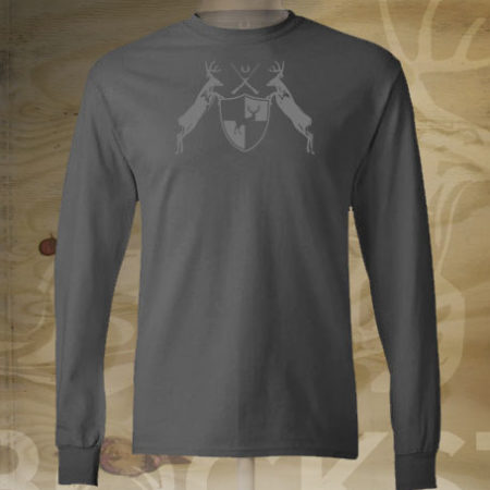 deer coat of arms long sleeve tshirt