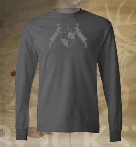 deer coat of arms long sleeve tshirt